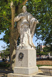 Statue of Spanish queen Sanca in Madrid Royalty Free Stock Photography