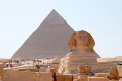 Statue of the Sphinx Stock Images