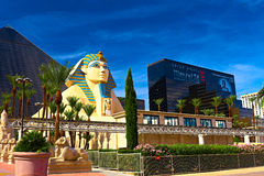 Statue of Sphinx from Luxor Hotel Casino Royalty Free Stock Photos