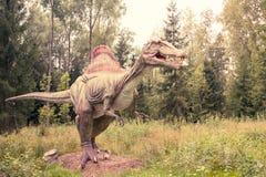 Statue of Spinosaurus dinosaur Royalty Free Stock Photos