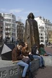 Statue of Spinoza in Amsterdam against blue sky Royalty Free Stock Photo