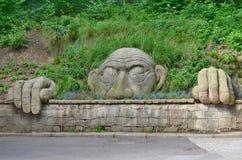 Statue spirit gory parkowej, spa park, Kudowa Zdroj stock image