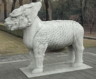 Statue at the Spirit Way in China Stock Images