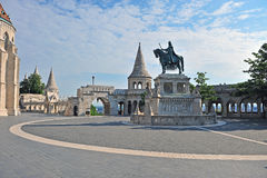 Statue on the square of Fisherman bastion Stock Photo
