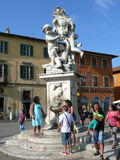 Statue in Square of Miracles, in Pisa Stock Photos