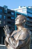 Statue Sri Chinmoy, Oslo Lizenzfreie Stockbilder