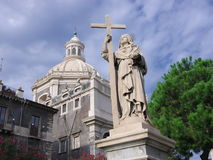Statue Of St. Agatha In Catania, Italy royalty free stock photo