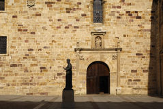 Statue of St. Alphonsus Seminary Square, Zamora,. Castilla y Leon, Spain stock images