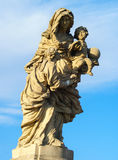 Statue of St. Anne Prague Stock Images