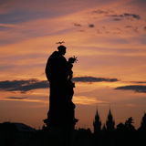 Statue of St Anthony of padua, Charles Bridge Royalty Free Stock Photos