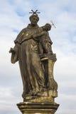 Statue of St. Anthony of Padua on Charles Bridge in Prague Royalty Free Stock Image