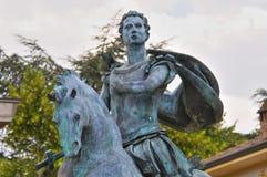 Statue of St. Antonino. Travo. Emilia-Romagna. Italy. Stock Image