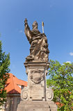 Statue of St. Augustine on Charles Bridge in Prague Royalty Free Stock Photography