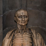 Statue of St. Bartholomew in Milano's Cathedral, Duomo, Italy Royalty Free Stock Photo