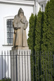 Statue of St Benedykt outside Saint Kazimierz Church in New Town of Warsaw in Poland Stock Photography