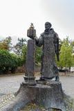 Statue of St. Boniface, Fritzlar, Germany. Statue of St. Boniface near Fritzlar cathedrel, Germany royalty free stock photo