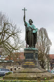 Statue of St. Boniface, Fulda, Germany. Saint Boniface statue in Fulda, Hesse, Germany royalty free stock photo