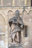Statue of St Bonifatius. In Mainz,Germany royalty free stock photography
