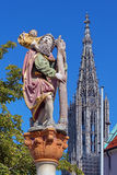 Statue of St. Christopher in Ulm, Germany Stock Images