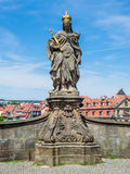 Statue of St. Cunigunde as Holy Roman Empress, in Bamberg Royalty Free Stock Images
