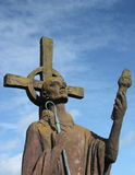 Statue of St Cuthbert, Lindisfarne, Northumberland, UK Stock Images