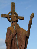 Statue of St Cuthbert, Lindisfarne, Northumberland, UK Royalty Free Stock Photos