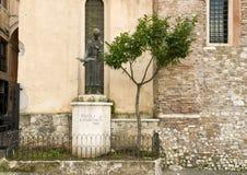 Statue of St. Francesco in Tivoli Stock Photography