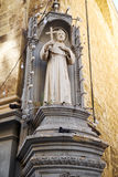 The statue of St Francis of Assisi on the corner of St Francis o Royalty Free Stock Photo