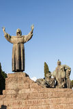Statue of St Francis of Assisi Royalty Free Stock Image