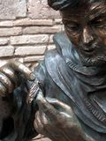 Statue of St. Francis in the garden of the monastery in Assisi, Royalty Free Stock Photo