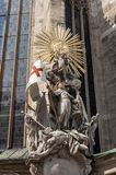 Statue of St. Francis, Stephansdom. Royalty Free Stock Photo