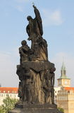 Statue of St. Francis Xaverius in Prague Stock Photos