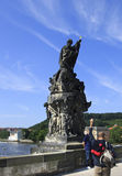 Statue of St. Francis Xavier. Charles Bridge in Prague. Royalty Free Stock Images
