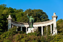 Statue of St Gellert in Budapest Stock Images