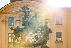 Statue of St. George and Dragon in Stockholm Stock Photography