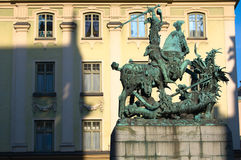 The statue of St. George and the Dragon in Stockholm Royalty Free Stock Photo