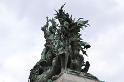 The statue of St. George and the Dragon Royalty Free Stock Photos