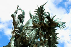 The statue of St. George and the Dragon (1912) in Old Town Gamla Royalty Free Stock Photo