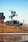 Statue of St. George on Poklonnaya Hill Stock Images
