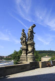 Statue of St. Ivo. Charles Bridge in Prague. Stock Image
