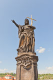 Statue of St. John the Baptist on Charles Bridge in Prague Stock Photography