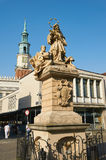 Statue of St. John Nepomucene. Poznan Stock Photo