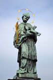 Statue of St. John of Nepomuk Royalty Free Stock Photography