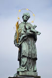 Statue of St. John Nepomuk Royalty Free Stock Photography