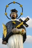 Statue of St. John of Nepomuk in the Czech countryside, Europe stock images