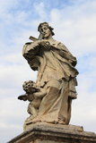 Statue of St. John of Nepomuk in Rome Stock Photo