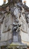 Statue of St. John of Nepomuk, 18th century monument, Ostrow Tumski, Krakow, Poland. Statue of St. John of Nepomuk, 18th century monument, Ostrow Tumski, Wroclaw Royalty Free Stock Photo