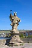 Statue of St John Nepomuk in Wurzburg, Germany. Royalty Free Stock Image