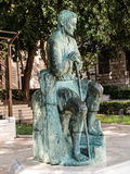 The statue of St.. Joseph, guardian of Jesus, between the sanctu Stock Photography
