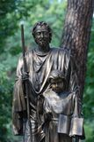 Statue of St. Joseph with Jesus. Jozefow, Masovian voivodeship, Poland, Statue of Saint Joseph and Jesus Christ next to Our Lady of Częstochowa church in Józef Stock Photo